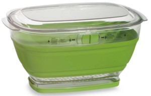 Collapsible Salad Greens Food Container